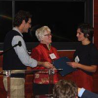 Camilla Crifo receives certificate